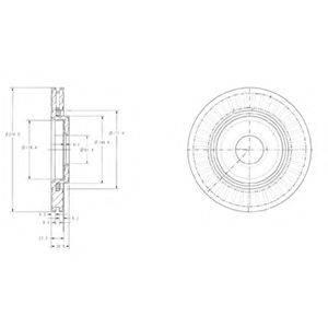 Тормозной диск DELPHI BG3620
