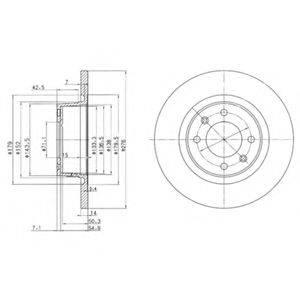 Тормозной диск DELPHI BG3621