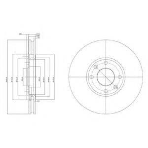 Тормозной диск DELPHI BG3622