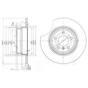 Тормозной диск DELPHI BG3629