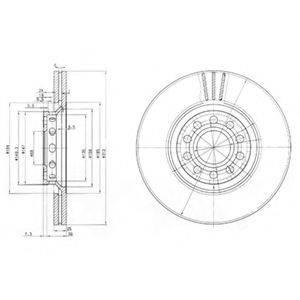 Тормозной диск DELPHI BG3657