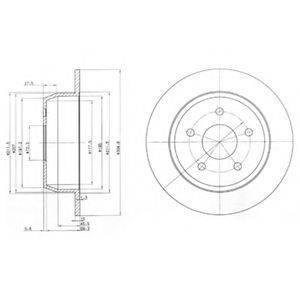 Тормозной диск DELPHI BG3660