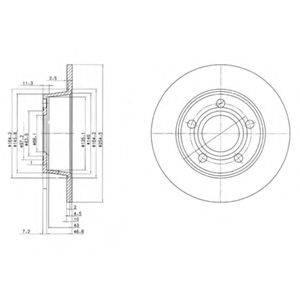 Тормозной диск DELPHI BG3672