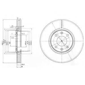 Тормозной диск DELPHI BG3675