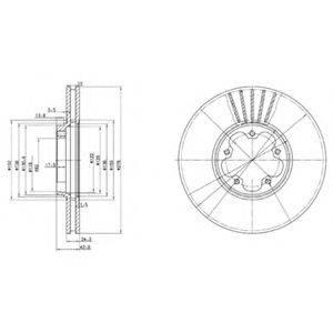 Тормозной диск DELPHI BG3676
