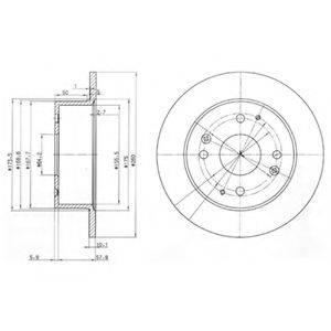 Тормозной диск DELPHI BG3677