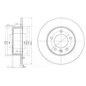 Тормозной диск DELPHI BG3681