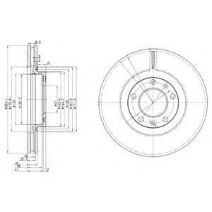 Тормозной диск DELPHI BG3682