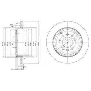 Тормозной диск DELPHI BG3684