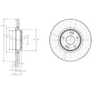 Тормозной диск DELPHI BG3688