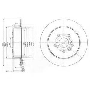 Тормозной диск DELPHI BG3691