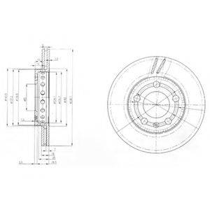 Тормозной диск DELPHI BG3695
