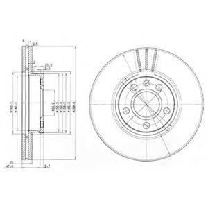 Тормозной диск DELPHI BG3696