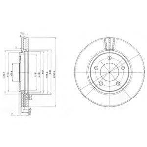 Тормозной диск DELPHI BG3715
