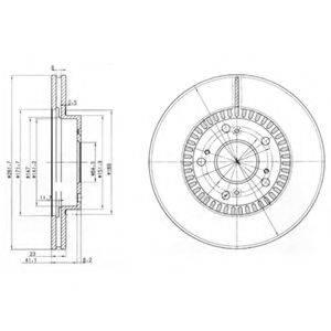 Тормозной диск DELPHI BG3720