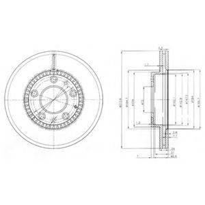 Тормозной диск DELPHI BG3724