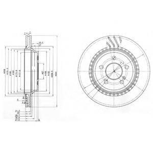 Тормозной диск DELPHI BG3726