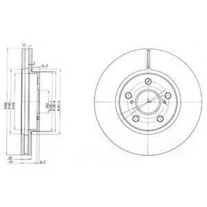 Тормозной диск DELPHI BG3735