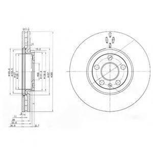 Тормозной диск DELPHI BG3740