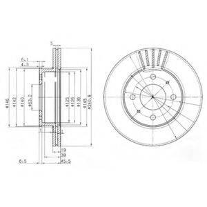 Тормозной диск DELPHI BG3749