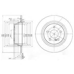 Тормозной диск DELPHI BG3757