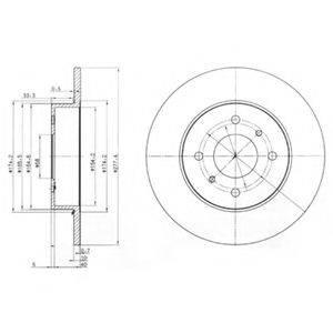 Тормозной диск DELPHI BG3764