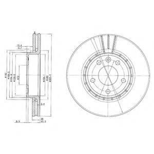 Тормозной диск DELPHI BG3768