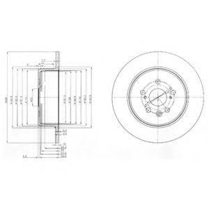 Тормозной диск DELPHI BG3777
