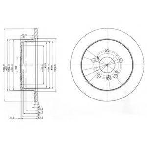 Тормозной диск DELPHI BG3779