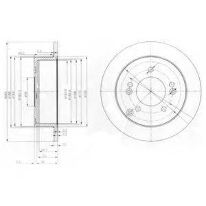 Тормозной диск DELPHI BG3799