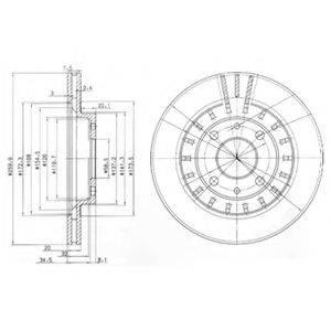 Тормозной диск DELPHI BG3806
