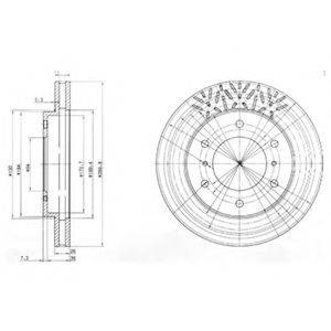Тормозной диск DELPHI BG3812