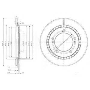 Тормозной диск DELPHI BG3820
