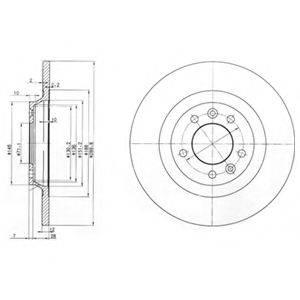 Тормозной диск DELPHI BG3836