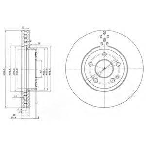 Тормозной диск DELPHI BG3838