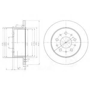 Тормозной диск DELPHI BG3853