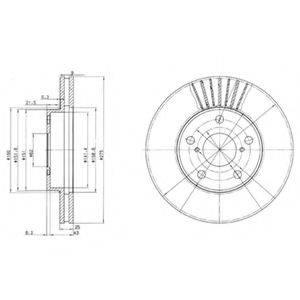 Тормозной диск DELPHI BG3856