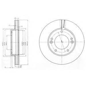 Тормозной диск DELPHI BG3858