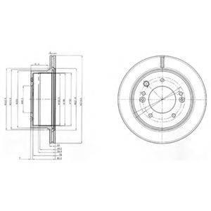 Тормозной диск DELPHI BG3859