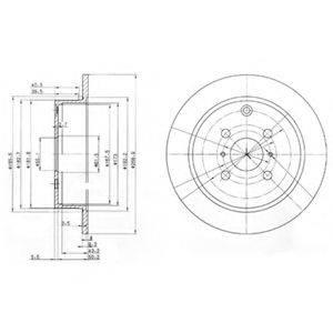Тормозной диск DELPHI BG3867