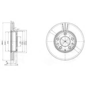 Тормозной диск DELPHI BG3874