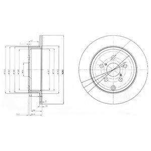 Тормозной диск DELPHI BG3912