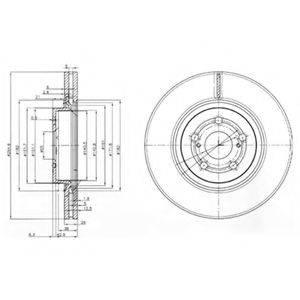 Тормозной диск DELPHI BG3914
