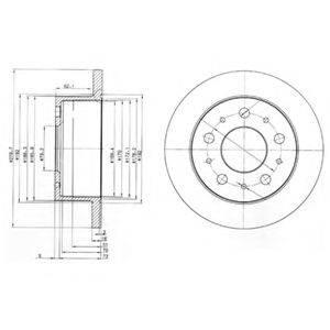 Тормозной диск DELPHI BG3923