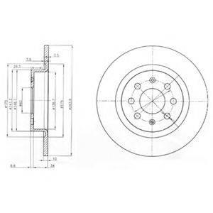 Тормозной диск DELPHI BG3945