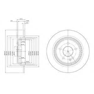 Тормозной диск DELPHI BG3969