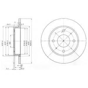 Тормозной диск DELPHI BG3971