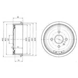 Тормозной барабан DELPHI BF102