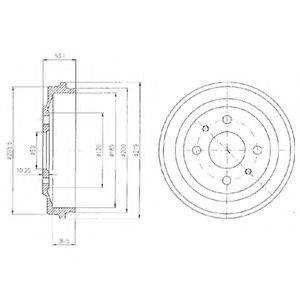 Тормозной барабан DELPHI BF136