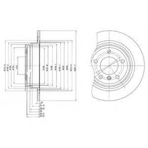 Тормозной диск DELPHI BG3044